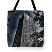 Chicago John Hancock In June Pa 01 Tote Bag