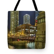 Chicago La Salle Street Bridge Tote Bag