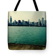 Chicago Lake Michigan Skyline Tote Bag