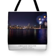 Chicago Lakefront Skyline Poster Tote Bag
