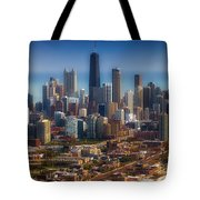 Chicago Looking East 01 Tote Bag