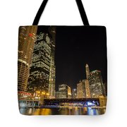 Chicago - Looking East From Dearborn Street Tote Bag