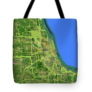 Chicago Map, Old Map, Abstract, Abstract Art, Blue, Blue And Purple Art Tote Bag