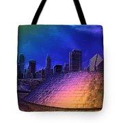 Chicago Millennium Park Bp Bridge Pa 01 Prismatic Tote Bag