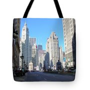 Chicago Miracle Mile Tote Bag