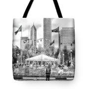 Chicago Nfl Draft Town 2016 Bw Tote Bag