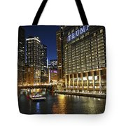Chicago Night Lights Tote Bag