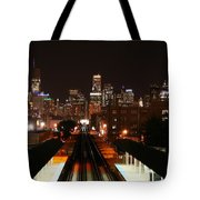Chicago Night Sky Tote Bag