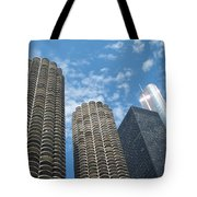 Chicago On A Bright Blue Day Tote Bag