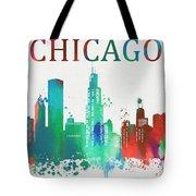 Chicago Paint Splatter Tote Bag