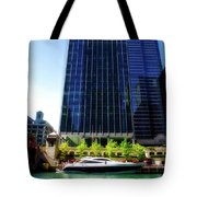 Chicago Parked On The River By 320 River Bar Tote Bag