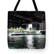 Chicago Parked On The River In June 03 Pa 01 Tote Bag