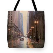 Chicago Rainy Street Tote Bag