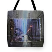 Chicago Rainy Street Expanded Tote Bag by Anita Burgermeister