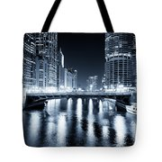 Chicago River At State Street Bridge Tote Bag by Paul Velgos
