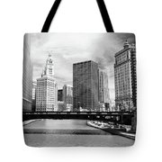 Chicago River Buildings Skyline Tote Bag by Paul Velgos
