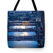 Chicago River First Light Tote Bag
