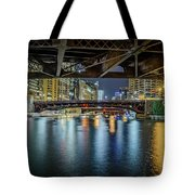 Chicago River Hd Tote Bag