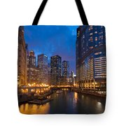 Chicago River Lights Tote Bag