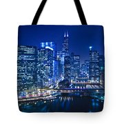 Chicago River Panorama Tote Bag