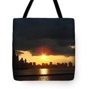 Chicago Silhouette Tote Bag