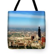 Chicago Skyline - 1990s Tote Bag