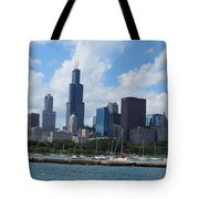 Chicago Skyline 7 Tote Bag