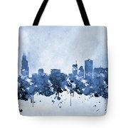 Chicago Skyline-blue 2 Tote Bag