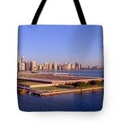 Chicago Skyline, Filtration Plant Tote Bag
