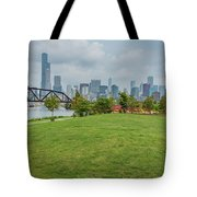 Chicago Skyline From The Southside Tote Bag