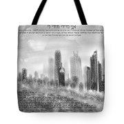 chicago skyline Ketubah Tote Bag
