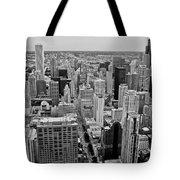 Chicago Skyline Landscape Tote Bag