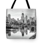 Chicago Skyline - Lincoln Park Tote Bag