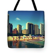 Chicago Summer Skyline At Oak Street Beach Tote Bag