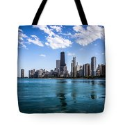 Chicago Skyline Photo With Hancock Building Tote Bag