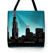 Chicago Skyline Tote Bag by Sandra Hoefer
