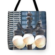 Chicago Street Lamps Tote Bag
