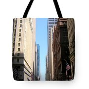 Chicago Street With Flags Tote Bag