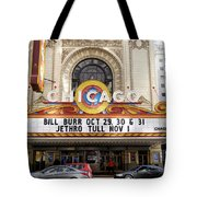 Chicago Theater Marquee Jethro Tull Signage Tote Bag