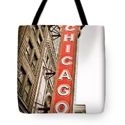 Chicago Theater Sign Marquee Tote Bag