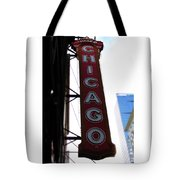 Chicago Theater Sign Tote Bag