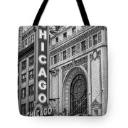 Chicago Theatre Bw Tote Bag