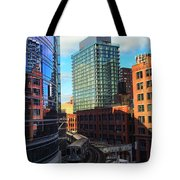 Chicago Train Tote Bag