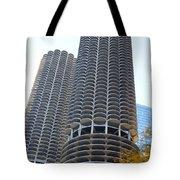 Chicago Twin Corn Cob Building  Tote Bag