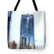 Chicago Under Construction On The River 02 Pa Tote Bag