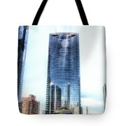Chicago Under Construction On The River 02 Tote Bag