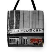 Chicago United Center Signage Sc Tote Bag