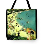 Chicago, Vacation City, Areal View On The Beach Tote Bag