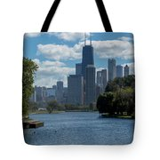 Chicago - View From Lincoln Park Lagoon Tote Bag