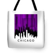 Chicago Violet Vertical  Tote Bag